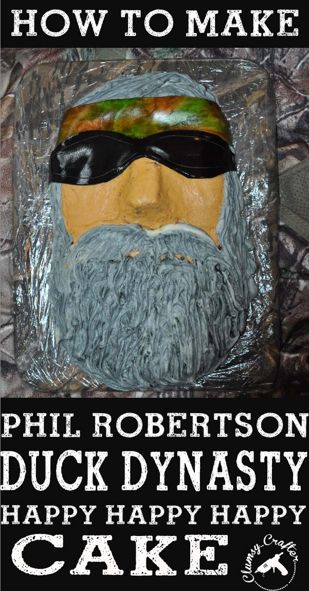 How to make a Phil robertson Duck Dynasty Cake Duck Dynasty Cake How